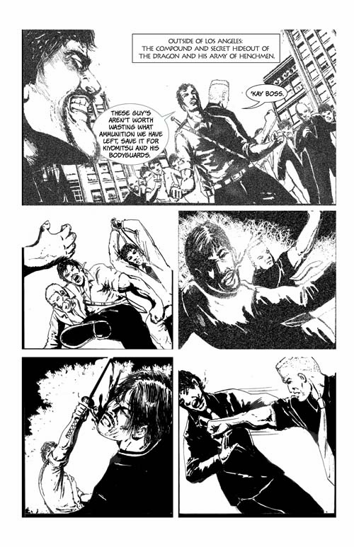 The Rapier page 1 finished lettered s